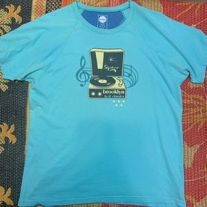 Blue Marlin Graphic Shirt Brooklyn Music Vintage L